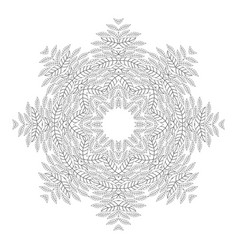 mandala antistress coloring pages for adults vector image vector image