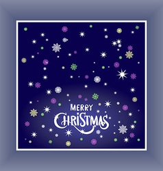Merry Christmas typography handwriting background vector image vector image