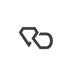 Modern letter r d vector