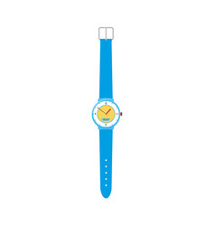 Modern mechanical wristwatch with plastic band vector