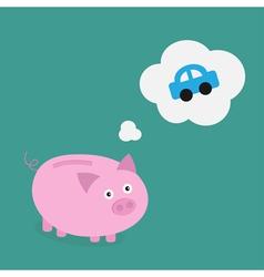Piggybank car vector