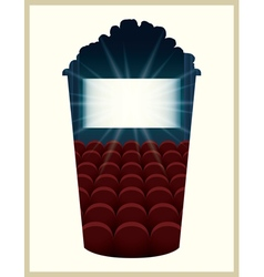 Popcorn bucket silhouette vector image vector image