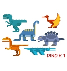 Prehistoric dinosaurs of jurassic period vector image