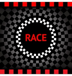 Race-square-black-background vector image