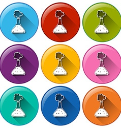 Round buttons with cylinders vector