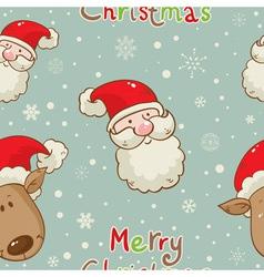 santa deer seamless vector image vector image