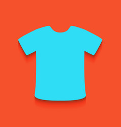 T-shirt sign whitish icon on brick wall vector