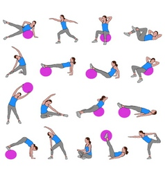 women doing pilates vector image vector image