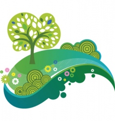 eco nature design vector image
