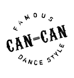 Famous dance style Can-Can stamp vector image