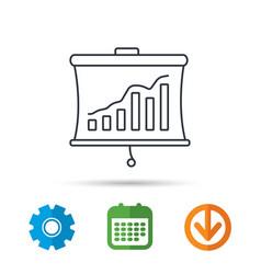 statistic icon presentation board sign vector image