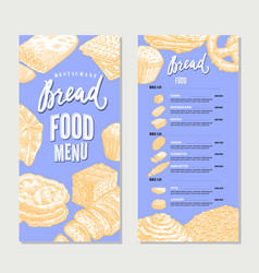 Vintage food restaurant menu template vector