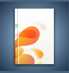 Bright splatter energetic abstract folder cover vector