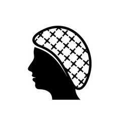 Hairnets must be worn icon vector
