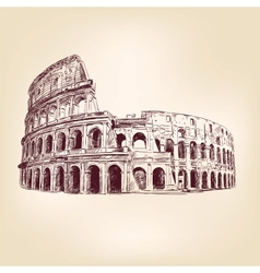 Coliseum - hand drawn vector