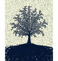 textured tree vector image
