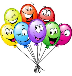 Group of funny colorful balloons vector