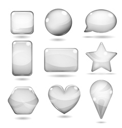 Opaque gray glass shapes vector image