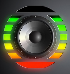 Speaker and equalizer vector