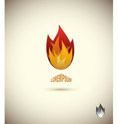 Tongues of flame icon logo of flame fire icon vector