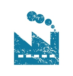 Factory grunge icon vector