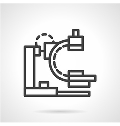 X-ray apparatus simple black line icon vector