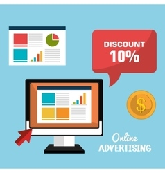 Online advertising and digital marketing vector