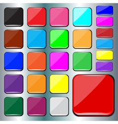 Colorful square buttons vector