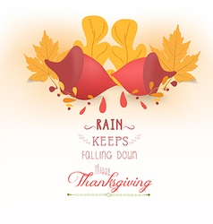Happy thanksgiving with acorns and leaves vector