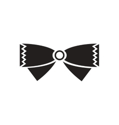 Flat icon in black and white bow tie vector