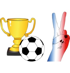 To root for france vector