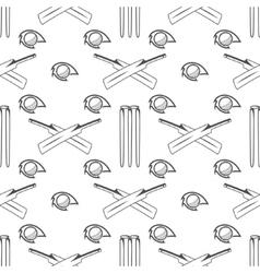Sport pattern cricket retro background seamless vector