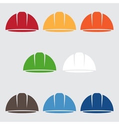 Set of abstract icon design template of worker vector