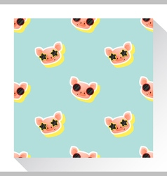 Animal seamless pattern collection with piggy 7 vector image vector image