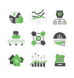 Business analysis icons vector image