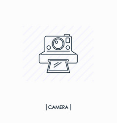 camera outline icon isolated vector image vector image