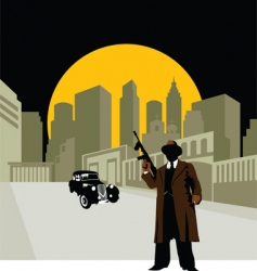 crime town vector image