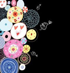 Decorative background from circles vector image vector image