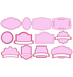 Empty pink label templates vector