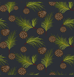 fir cones seamless pattern vector image vector image