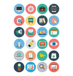 Flat seo and marketing icons 1 vector