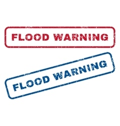 Flood warning rubber stamps vector