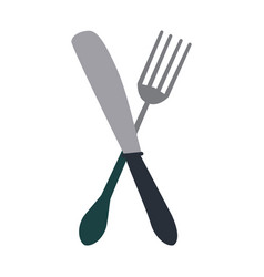 Fork and knife icon image vector