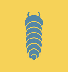 Insect caterpillar vector