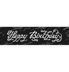 Isolated abstract white color happy birthday vector