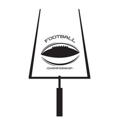 Isolated football goal post vector