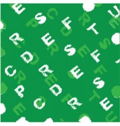 letter background pattern vector image