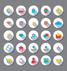 Modern Flat Design Website Icons Set vector image vector image