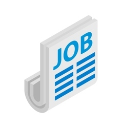 Newspaper with the headline Job icon vector image vector image