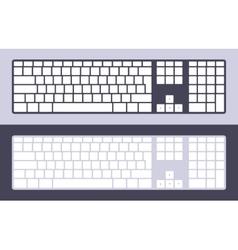 PC keyboard vector image vector image